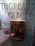 Thoreau stone with book